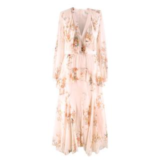 Zimmermann Floral-print Ruffled Silk Maxi Dress