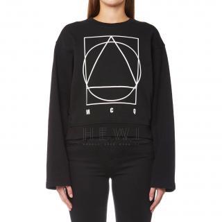 McQ by Alexander McQueen Boxy Logo-Print Sweatshirt