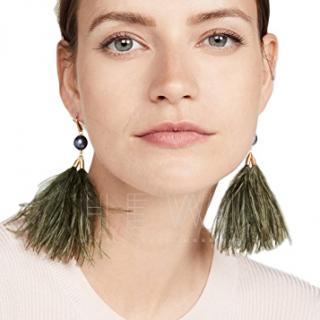 Tory Burch Feather-Tassel Earrings - Current Season