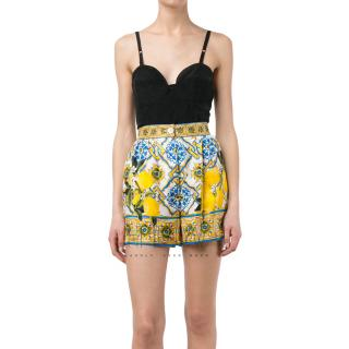 Dolce & Gabbana Majolica Lemon-Print Shorts