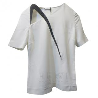Mugler Asymmetric White Top