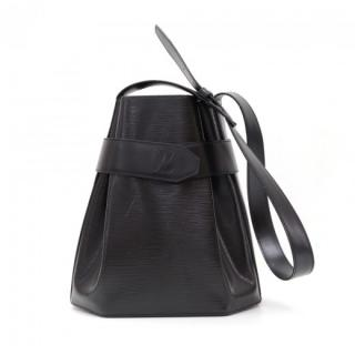 Louis Vuitton Louis Vuitton Sac Depaule PM Black Epi Bucket Bag