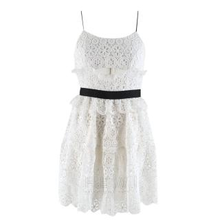 Self-Portrait Floral Lace Cut-Out Dress