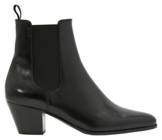 Celine black leather classic Saint Germain Chelsea Boots