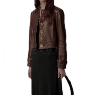Tory Burch Scalloped Leather Jacket - Current Season
