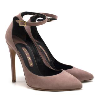 Gina Dusty-Pink Suede Pumps