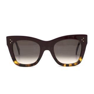 Celine Oversized Square-Frame Sunglasses