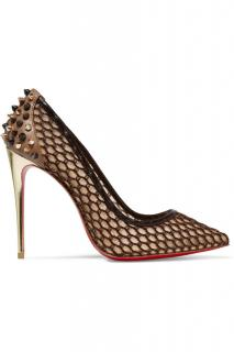 Christian Louboutin Gold mesh  'Guni' pumps