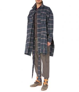 Vivienne Westwood Unisex Builder Resin Check Coat
