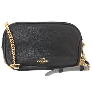 Coack small black pebbled leather shoulder bag