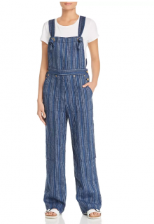 Tory Burch Striped Linen Jumpsuit