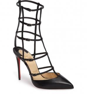 Christian Louboutin Kadreyana Leather Cage Pumps