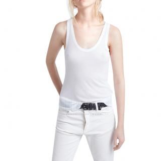 Zadig & Voltaire White Ribbed Tank Top