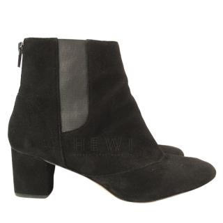 Repetto Clarisse Black Suede Ankle Boots