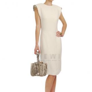 Lanvin Crystal-Embellished Padded Shoulder Dress