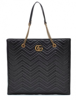 Gucci GM Marmont Large Black Leather Tote
