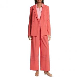 Tibi Double-Breasted Coral Suit