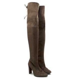 Stuart Weitzman Highland over-the-knee Suede Boots