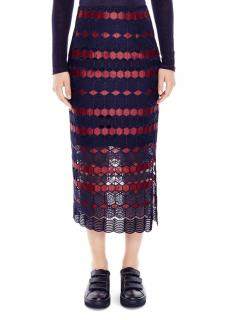 Sandro Diamond-Lace Pencil Midi Skirt
