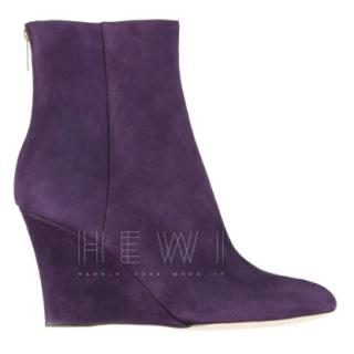 Jimmy Choo Mayor Purple Suede Ankle Boots
