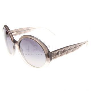 Chanel Oversize Gradient Round-Frame Sunglasses