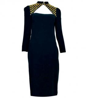 Alexander McQueen Open-front Embroidered Dress