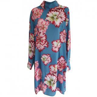 Charlotte Spare High-Neck Floral-Print Dress