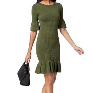 Michael by Michael Kors Green Knit Dress