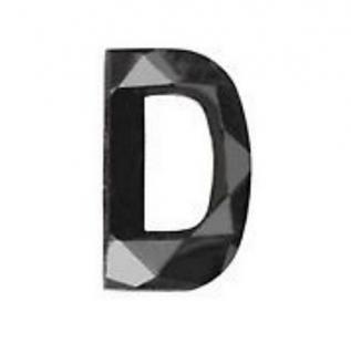 Noritamy black diamond letter stud earring