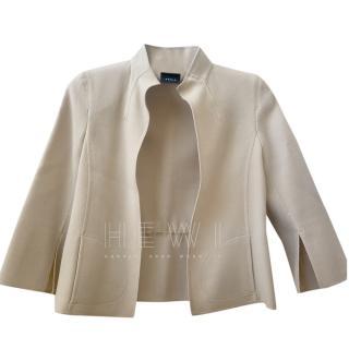 Akris Beige High-Neck Jacket