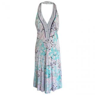 Emilio Pucci Floral-Print Halterneck Dress