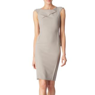 Roland Mouret O'Hara Grey Wool-Crepe Dress