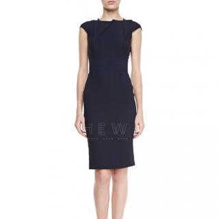 Roland Mouret Brownlow Black Stretch-Crepe Dress