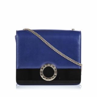 Bvlgari Bvlgari Blue Leather Chain Crossbody Bag