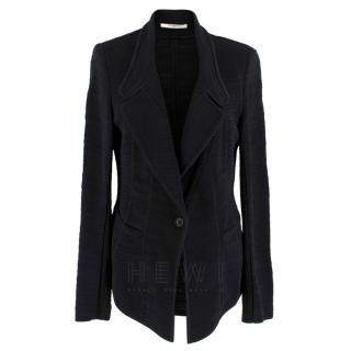 Givenchy Single Breasted Black-Knit Blazer