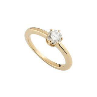 Chaumet 18k Yellow Gold Diamond Solitaire