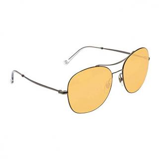 Gucci Yellow-Tinted Aviator Sunglasses