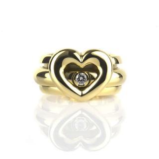 Piaget 18k Yellow Gold Diamond Heart Ring