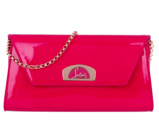 Christian Louboutin Vero Dodat Patent Leather Clutch - Current Season