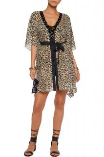 Just Cavalli Embellished Leopard-Print Kaftan