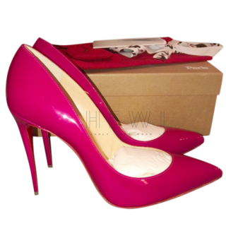 Christian Louboutin Pigalle Follies Ultra Rose Patent Leather Pumps