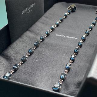 Saint Laurent Crystal-Drop Earrings - Current Season