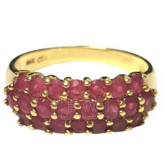 Cellini Ruby-Encrusted Ring