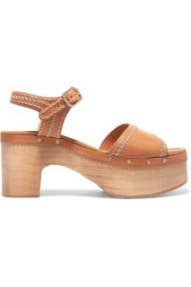 Sandro leather Audry Cloggs