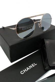 Chanel Sunglasses With Slim Silver Metal Frame