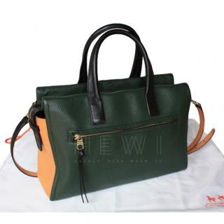 Coach leather colour block shoulder bag