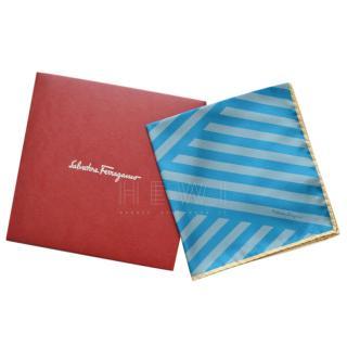 Salvatore Ferragamo Striped Silk Pocket Square