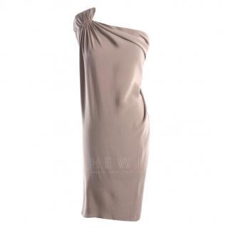 Philip Lim One-Shoulder Silk-Crepe Dress