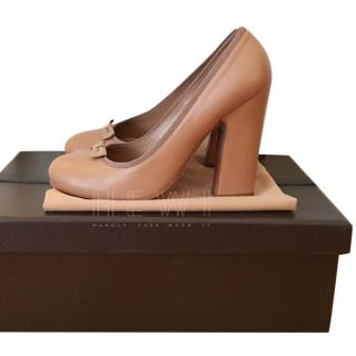 Alaia Grosgrain-Trimmed Block-Heel Pumps
