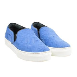 Celine Blue Calf Hair Slip-On Trainers
